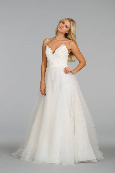 Wedding dress with spaghetti straps