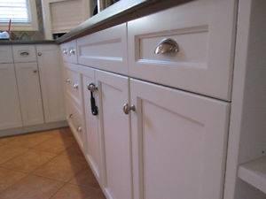 Custom Kitchen with Butcher Block Cambridge Ontario Under Stairs Custom Cabinets New Hamburg