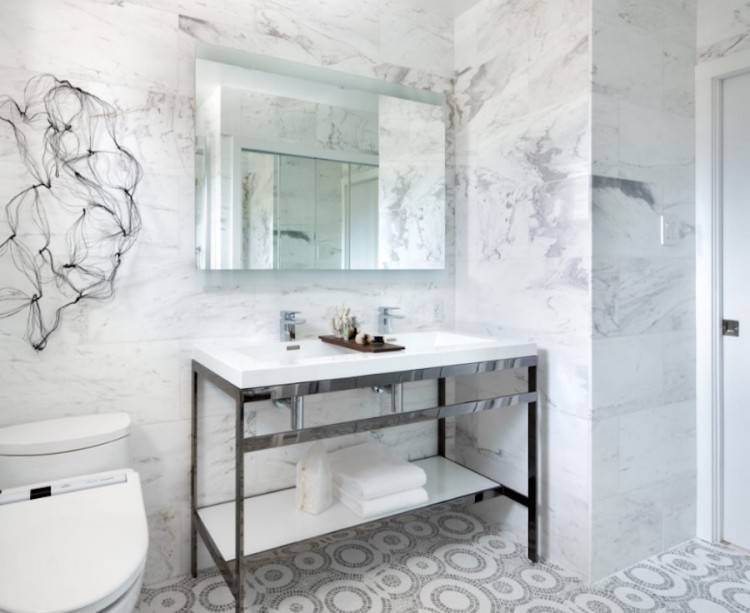 Guest rooms are often multifunctional: for the most time they serve as a  simple extra bathroom, but they can also become a dedicated space for the  guests