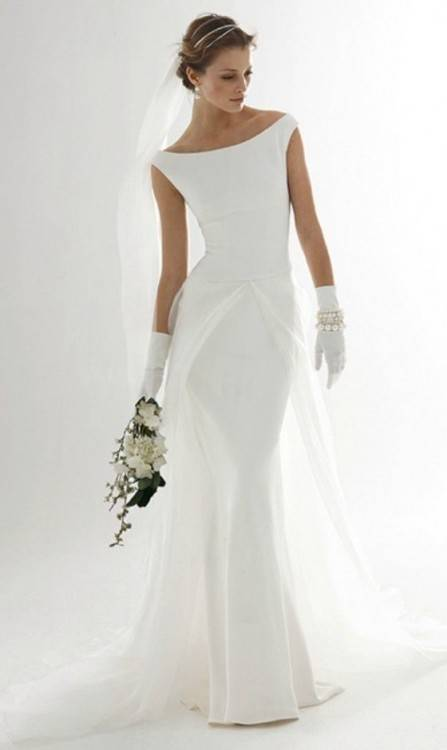 Back of Long sleeve modest bridal gown, style Naomi, is part of the Wedding