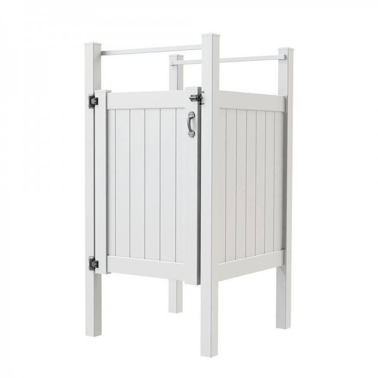 vinyl outdoor shower enclosure kits 6 6 privacy fence outdoor shower  enclosure in eastern white cedar