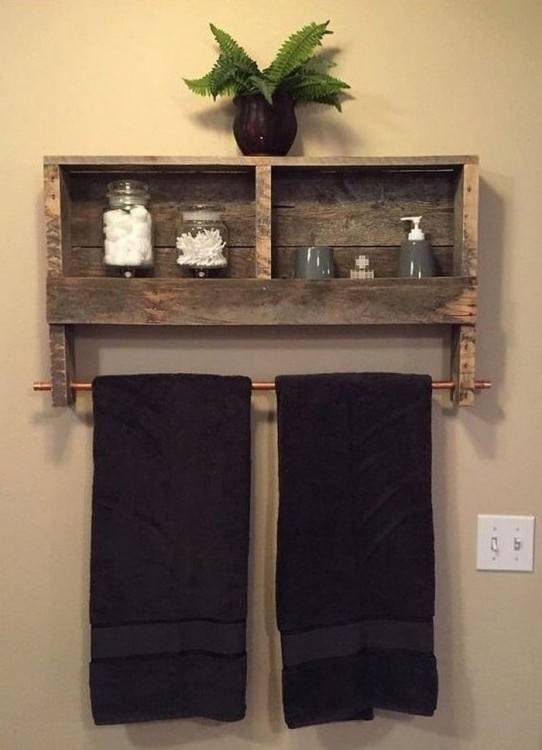 pallet wall bathroom
