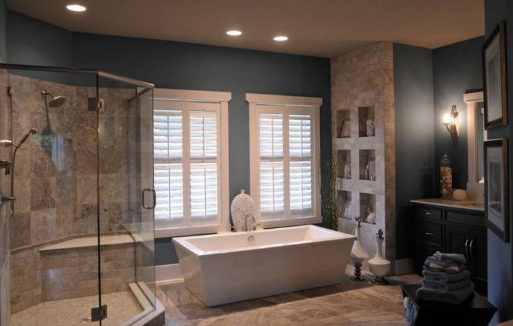 Contemporary Master Bathroom with Wyndham Collection Mermaid 5