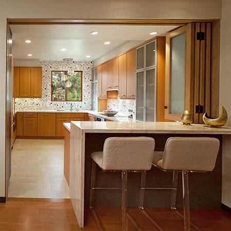 15X15 Kitchen Layout with Island | Brilliant Kitchen Floor Plans with Wood  Accent Bring Out Natural Look