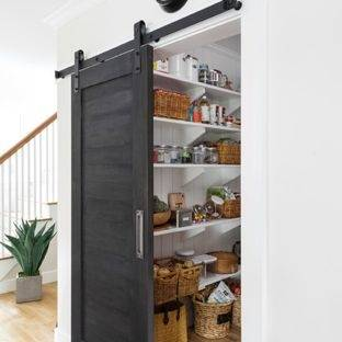Custom Kitchen Pantry with Glass Doors