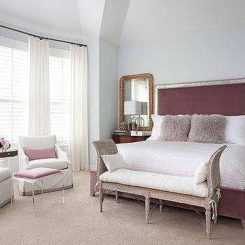 mauve bedroom