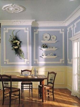 Fanciful Dining Room Picture Molding Ideas Beautiful Wall Trim Moulding Wainscoting With Grasscloth Dining Room My Michael Abrams