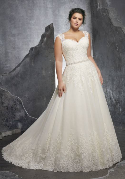 real plus size brides in their dresses please help