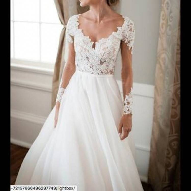 Discount 2017 Blush Pink Modern A Line Wedding Dresses Off Shoulder Long Sleeves Lace Appliques Crystal Sashes Buttom Back Court Train Bridal Gowns Unique