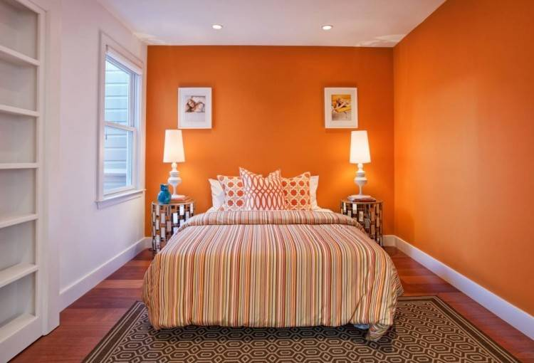 burnt orange bedroom walls