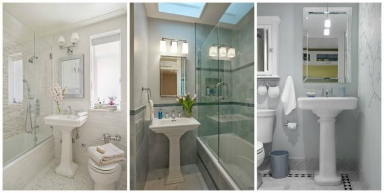 Traditional Powder Room Subway Tile Design, Pictures, Remodel, Decor and  Ideas