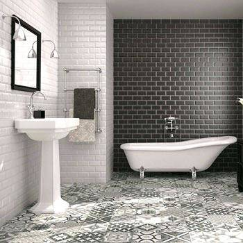 Grey Grout Bathroom; Metro Tiles Bathroom