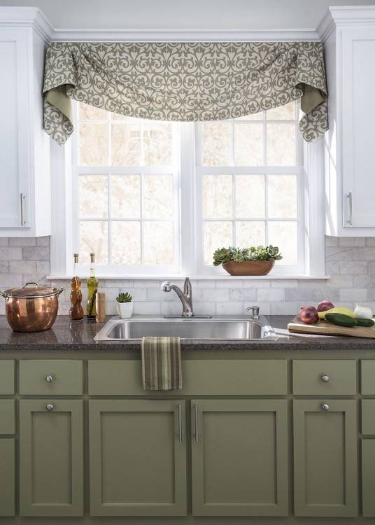 kitchen valance pattern creative of ideas window image white swag curtains island table