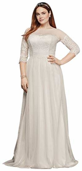 Justin Alexander wedding dresses style 8936 Turn heads with this crepe long sleeve fit and flare gown lined with Jersey from top to bottom