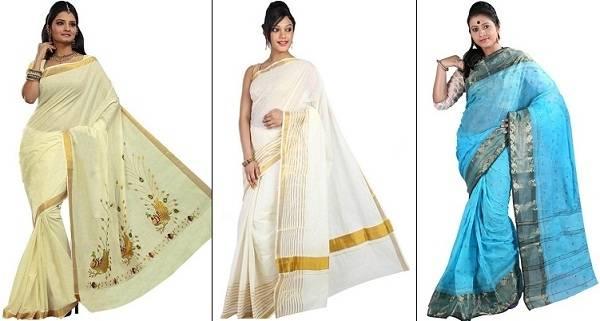 Madhubani print saree