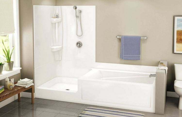 small bathroom with tub and shower
