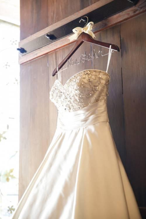 Bride  and Groom Custom Name Hangers