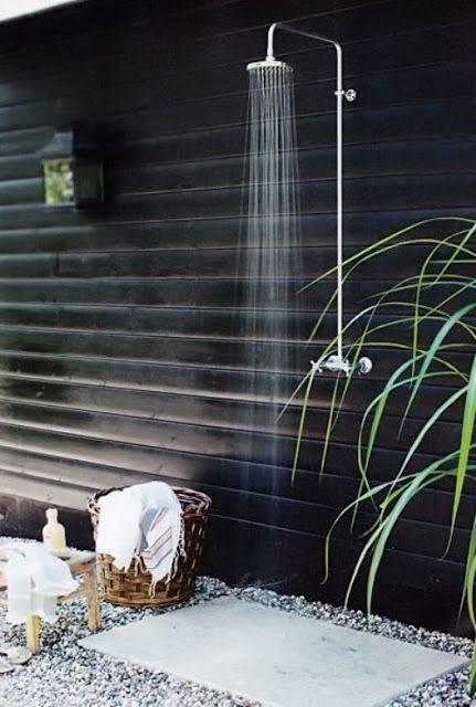 elegant outdoor shower
