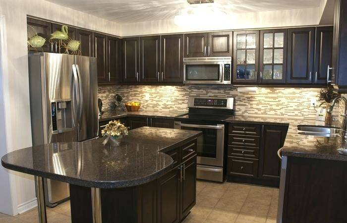 medium brown kitchen cabinets medium size of dark brown kitchen cabinets  with white island design ideas