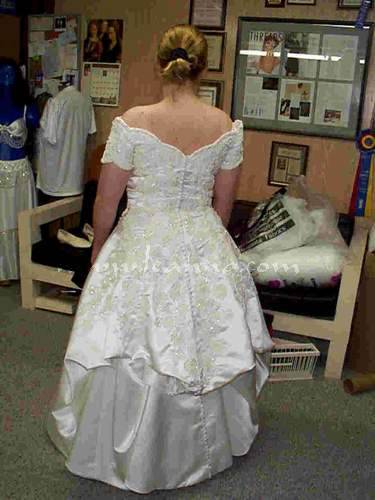When a bride chooses a wedding dress, it's always a special event
