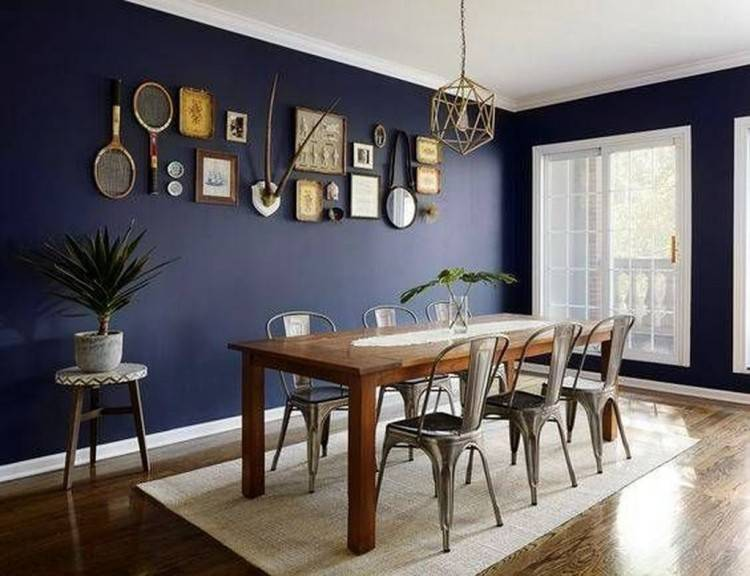 nautical dining room with farmhouse table is so inviting via themed ideas