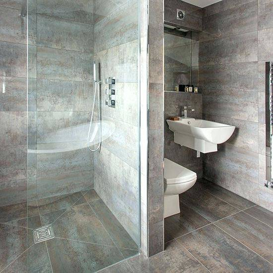 Grey is normally featured in certain aspects of the bathroom such as the  walls or floors, or bathroom furniture