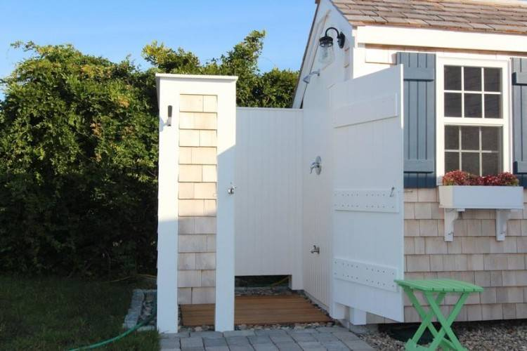 cape cod outdoor shower