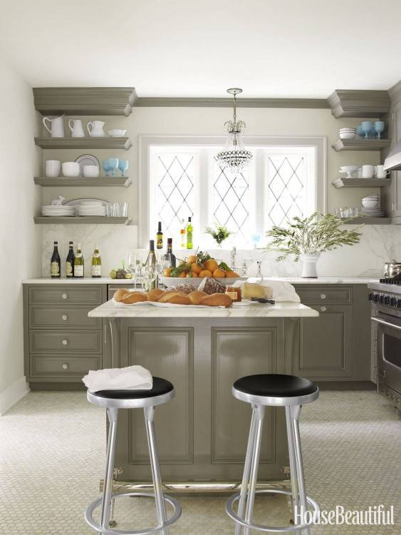 Kitchen open shelves add charm and character to a kitchen