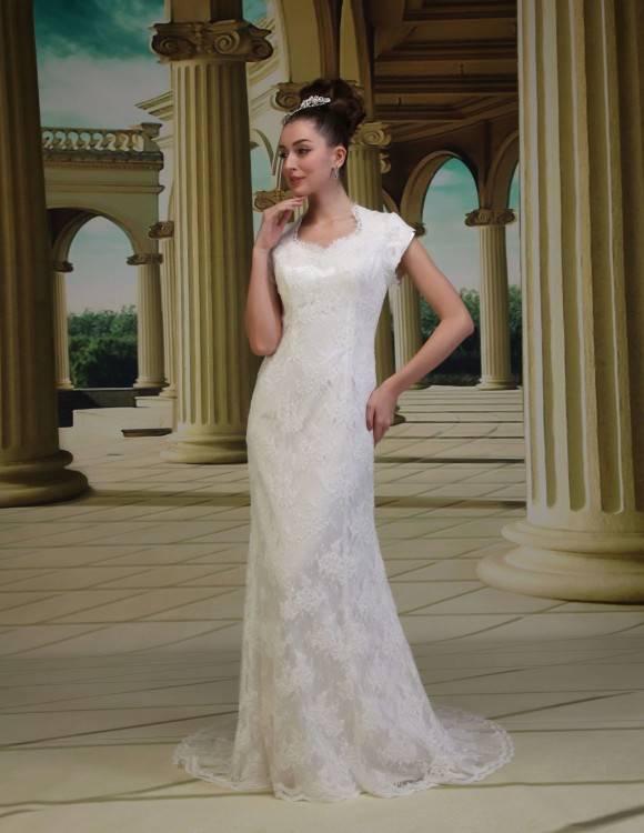 skirt types for modest wedding dresses, modeled by WeddingLDS