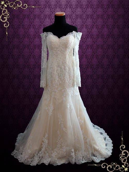 2018 Luxury Princess Style Wedding Dresses 3D Flower Appliques Off Shoulder Crystal Bridal Gowns Long Cathedral Train Vestidos Largos Lace Sleeve Wedding