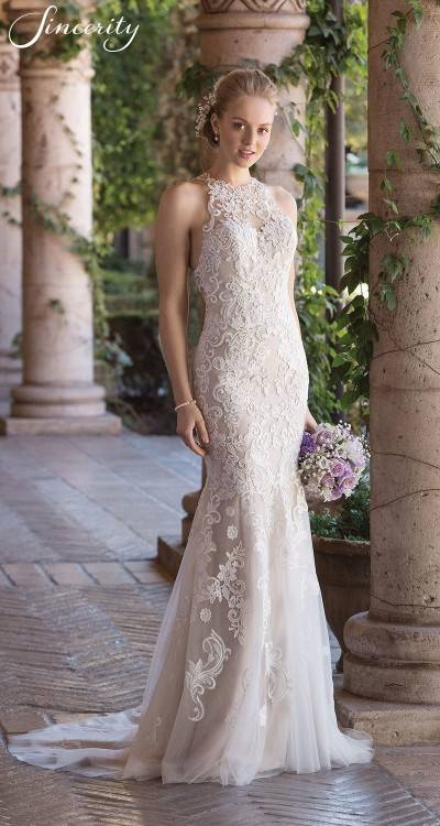 And now we have another gown that will make older women feel comfortable but also not stray away from the tradition of being a bride