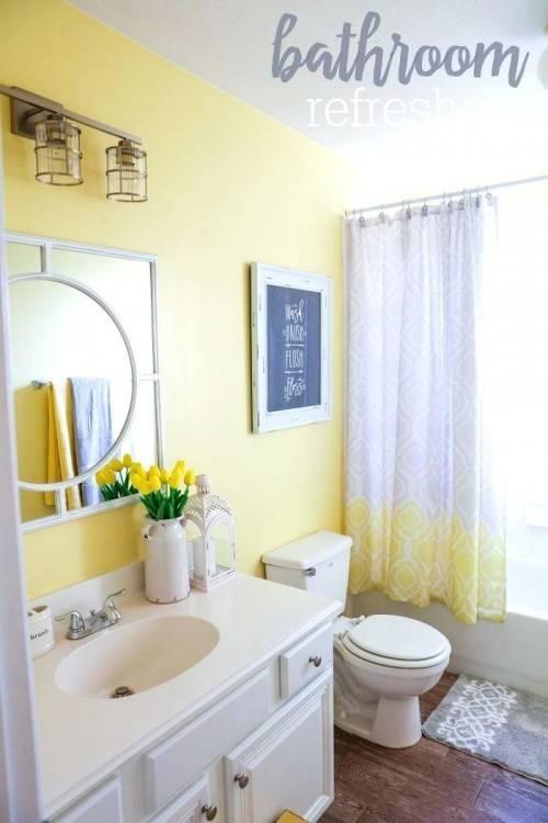 best gray yellow bathroom ideas