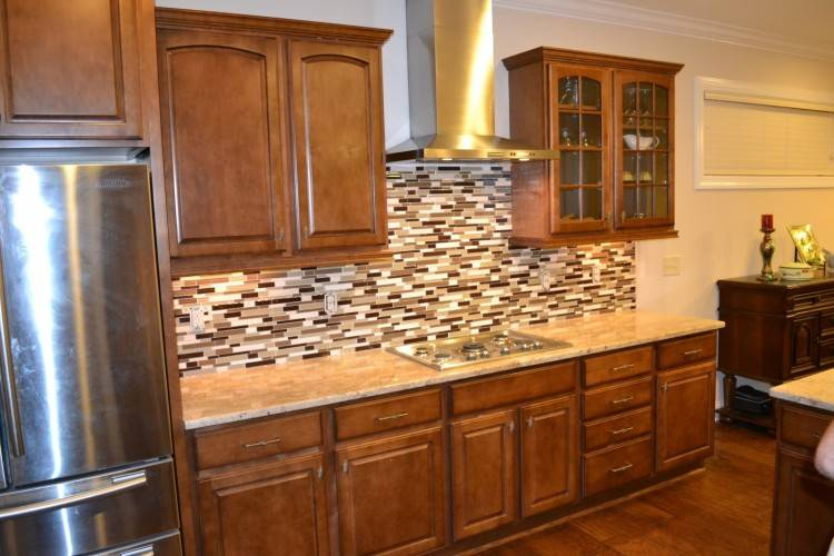 Ideas to update an oak kitchen by adding glass to the solid doors