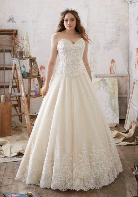 Beaded Chiffon Maternity Wedding Dress Style WG3882