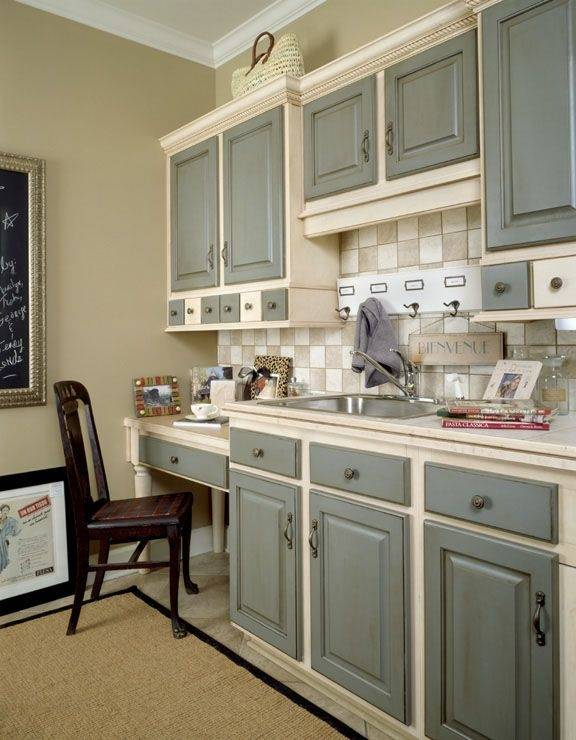 Kitchen: Perfect Combination Of Two Tone Kitchen Cabinets — Landsociety