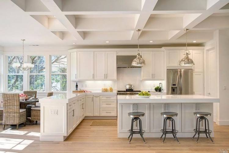 Fetching Transitional Kitchen Design Ideas : Delectable Transitional  Kitchen Along With Recessed Light In Kitchen Including