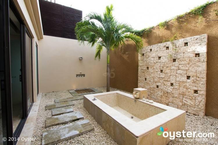 teak outdoor shower