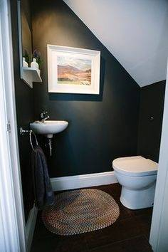 Under the Stairs Bathroom, The previous owners used this unvented bathroom as a kitty litter room