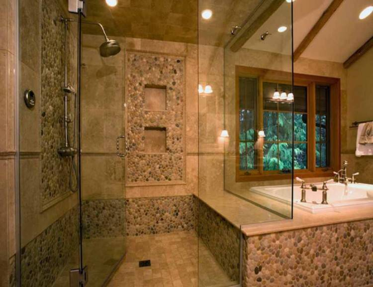 stone showers designs stone walk in shower