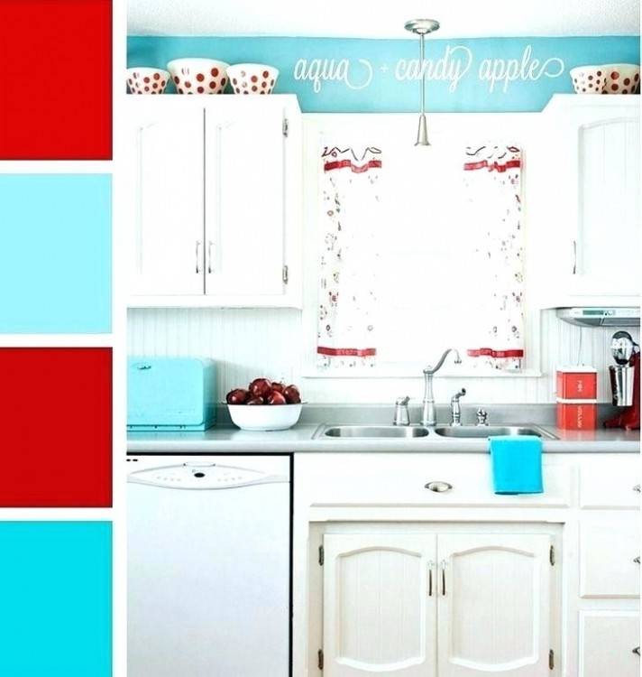 turquoise and red kitchen decor kitchen ideas