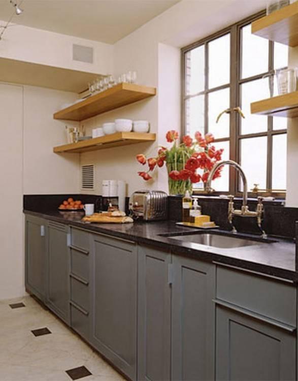 Kitchen : Narrow Space Small Kitchen Idea Home Ideas With Island