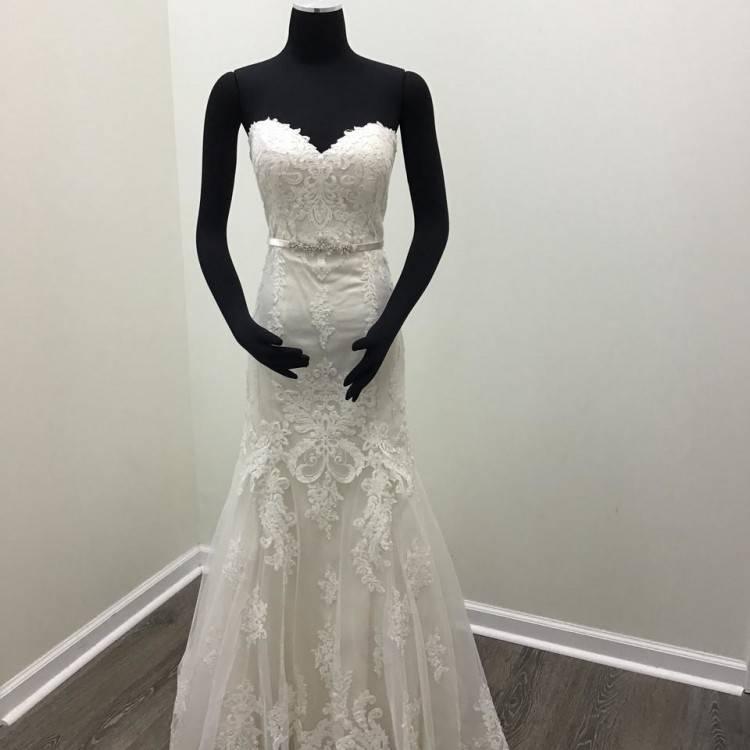Regency Organza Style 6405 Feminine Wedding Dress Size 12