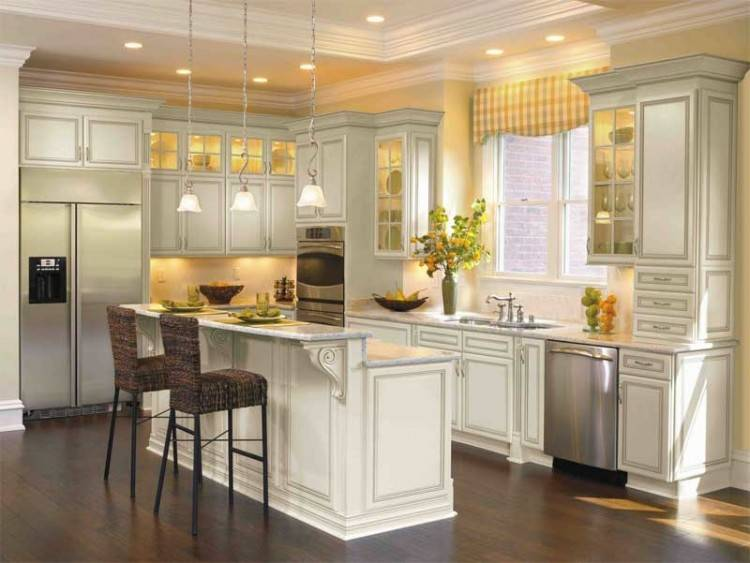 Adding crown molding to your kitchen cabinets