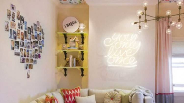 Your bedroom wall can be decorative without spending much money