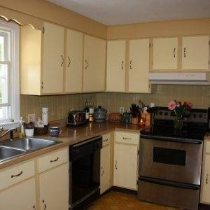 Make one set of cabinets your focal point