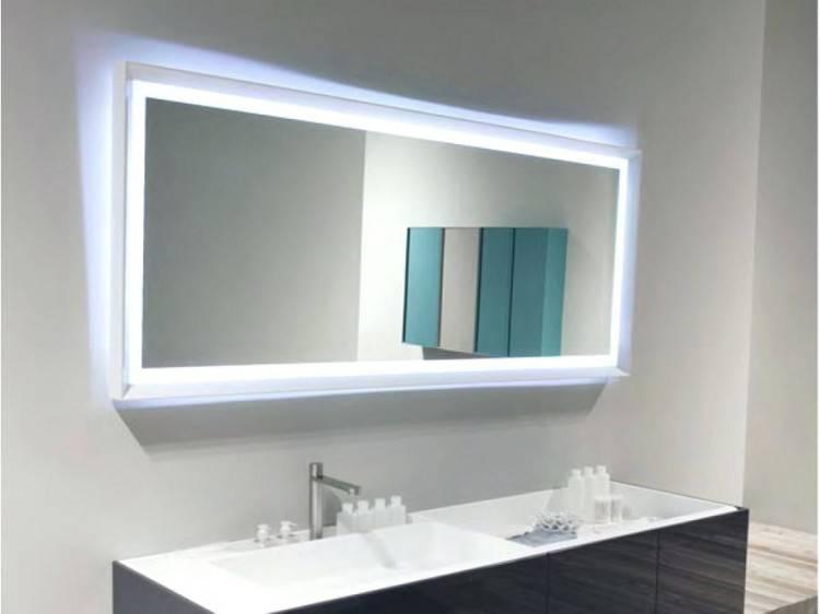 framed vanity mirror bathroom ideas with lights