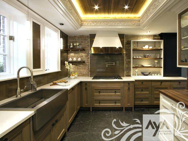 Kitchen, Blackish Brown Rectangle Contemporary Wooden Usa Kitchen Cabinets Laminated Ideas For Made In Usa