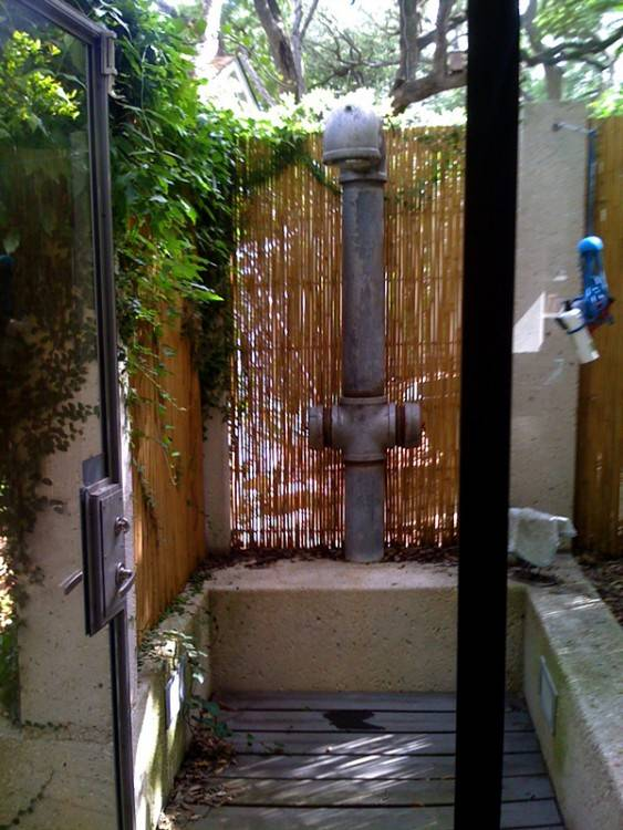 outdoor shower drainage