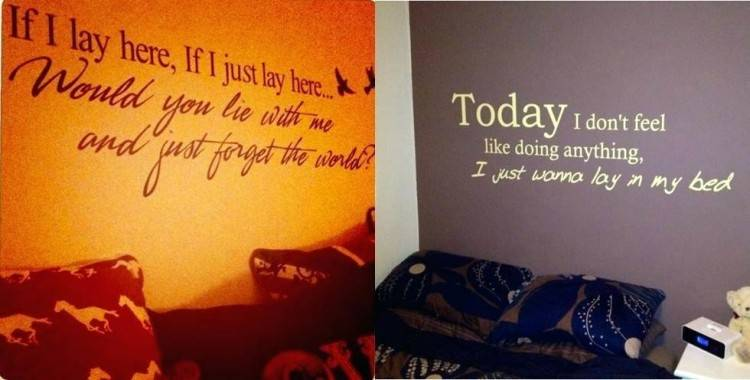 wall quotes for bedrooms