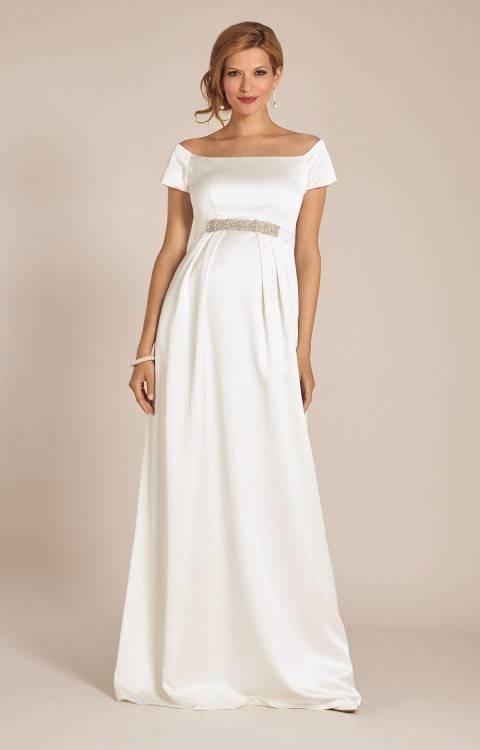 Discount New Greek Style Wedding Dresses With Watteau Train 2018 Sexy V Neck Long Chiffon Grecian Beach Maternity Wedding Gowns Grecian Bridal Dress Top Of